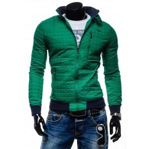 Moderní jarní bundy pro muže zelené barvy