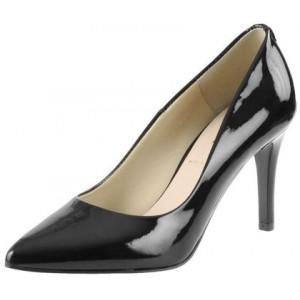 Společenská lakovaná dámská obuv černé barvy