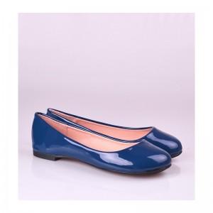 Pohodlné dámské balerínky na běžné nošení tmavě modré barvy