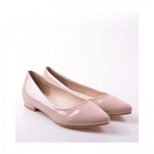 Elegantní dámské balerínyk béžové barvy