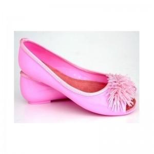 Stylové dámské balerínky růžové barvy