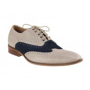 Pánske topánky - tmavomodré/béžové