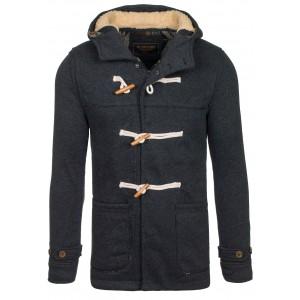 Pánský sportovní kabát černé barvy