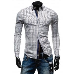 Hnědé pánské košile s dlouhým rukávem