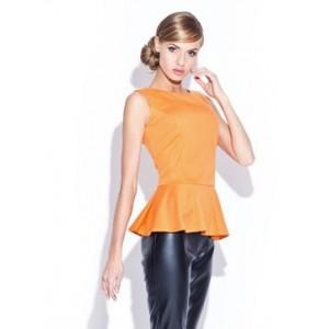 Dámská oranžová halenka bez rukávů