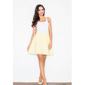 Dámská áčková sukně žluté barvy