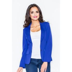 Dámské elegantní sako modré barvy