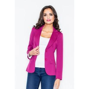 Dámské elegantní sako tmavě růžové barvy