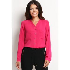 Růžová dámská košile s knoflíky