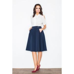 Slavnostní dámská sukně tmavě modré barvy