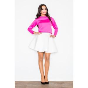 Dámské elegantní sukně bílé barvy