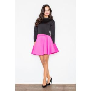 Tmavě růžová společenská dámská sukně