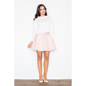 Formální dámské sukně světle růžové barvy