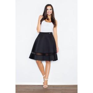 Dámská černá sukně s průsvitným pruhem