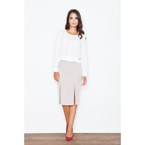 Formální dámská sukně béžové barvy