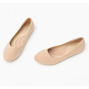 Elegantní béžové dámské balerínky
