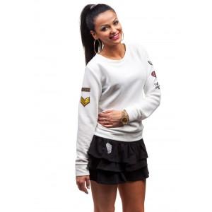 Letní dívčí bundičky bez kapuce bílé barvy