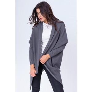 Moderní dámský kardigán šedé barvy