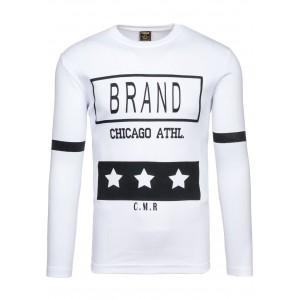 Pánské tričko bílé barvy s nápisem BRAND