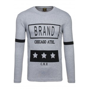 BRAND stylové pánské tričko šedé barvy
