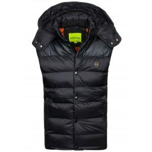 Stylové vesty pro pány v černé barvě