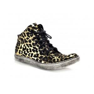 Sportovní pánské boty černo zlaté barvy COMODO E SANO