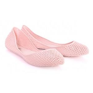 Dámské balerínky růžové barvy dírkované
