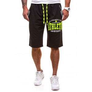 Krátké pánské teplákové kalhoty v černé barvě