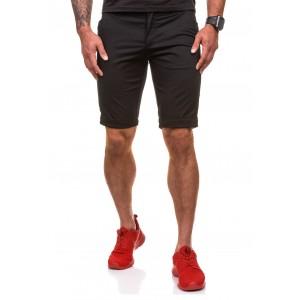 Stylové pánské šortky v černé barvě