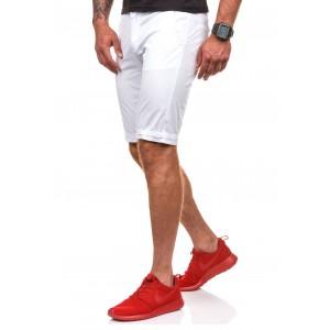 Sportovně elegantní pánské šortky v bílé barvě