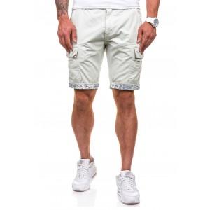 Sportovně elegantní pánské šortky v ecru barvě