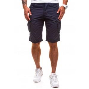 Sportovně elegantní pánské šortky v tmavě modré barvě