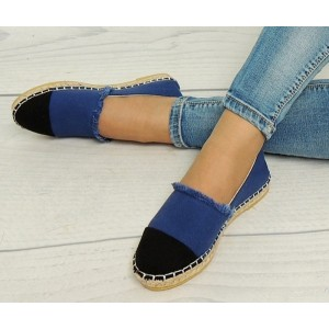 Espadrilky pro dámy v modro černé barvy