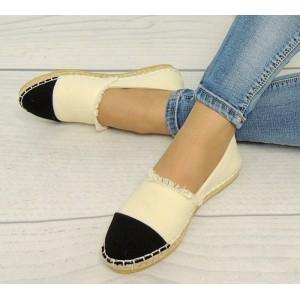 Dámská obuv na léto béžovo černé barvy