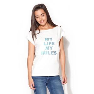 Dámská bílá trička s názvem my life