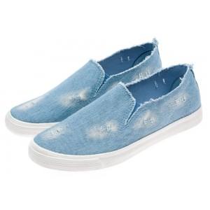 Pánské módní sportovní boty v riflovém provedení