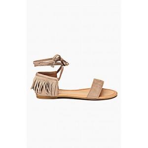 Hnědé dámské elegantní sandály