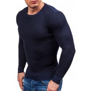 Tmavě modré svetry pro pány kárované