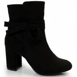 Dámské kotníkové boty na zimu v černé barvě se zipem