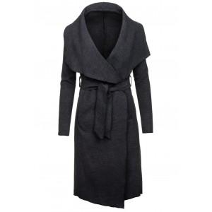 Černý kabát dámský po kolena