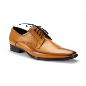 Pánské kožené šněrovací boty žluté barvy COMODO E SANO