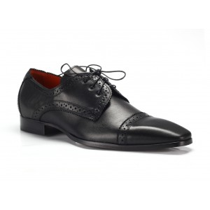 Černé kožené pánské společenské boty COMODO E SANO