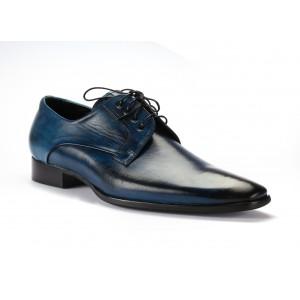 Pánské kožené boty modré barvy COMODO E SANO