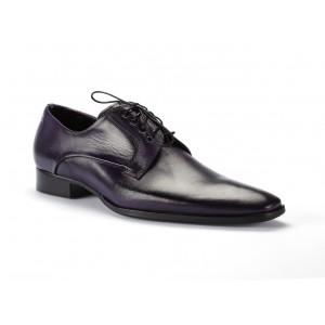 Fialové kožené boty pro pány COMODO E SANO