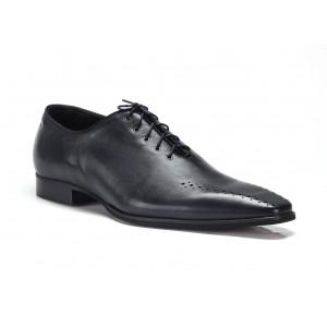 COMODO E SANO společenská pánská kožená obuv tmavě modré barvy