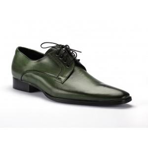 Zelené šněrovací kožené boty pro pány COMODO E SANO