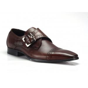 Hnědé pánské kožené boty COMODO E SANO