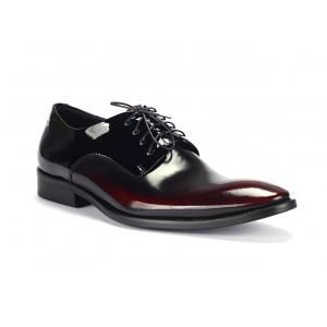 Černé společenské boty vyrobené z pravé kůže COMODO E SANO