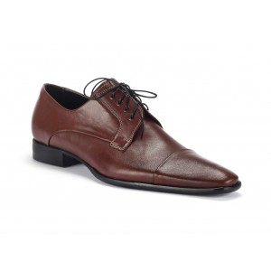 Pánské kožené společenské boty v hnědé barvě COMODO E SANO