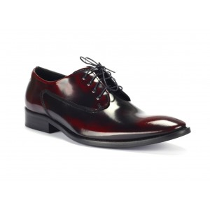 Pánské černo červené luxusní kožené boty COMODO E SANO